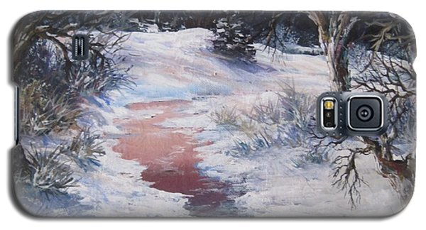 Galaxy S5 Case featuring the painting Winter Warmth by Megan Walsh
