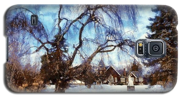Galaxy S5 Case featuring the photograph Winter Willow In Mountainhome - Church by Janine Riley