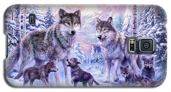 Winter Wolf Family  Galaxy S5 Case
