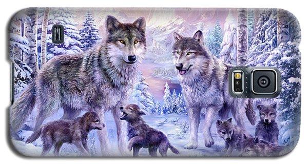 Winter Wolf Family  Galaxy S5 Case by Jan Patrik Krasny
