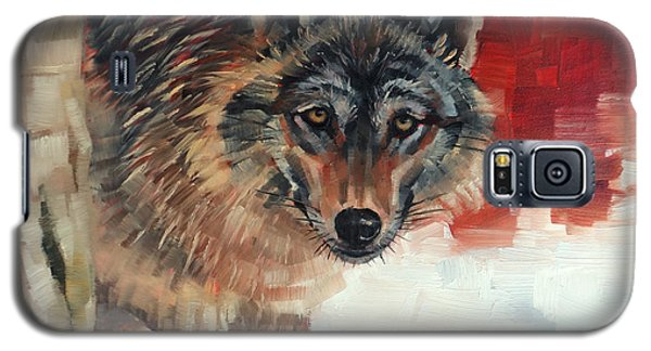 Winter Wolf Galaxy S5 Case by Margaret Stockdale