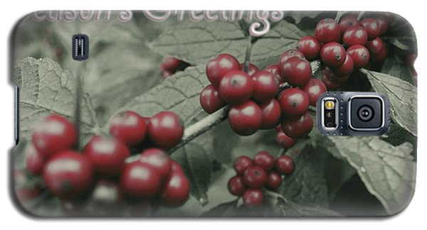 Galaxy S5 Case featuring the photograph Winterberry Greetings by Photographic Arts And Design Studio