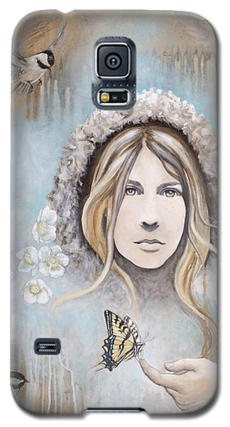 Galaxy S5 Case featuring the painting Winter's Dream by Sheri Howe
