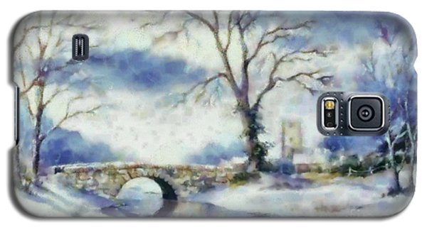 Galaxy S5 Case featuring the painting Winters River by Elizabeth Coats