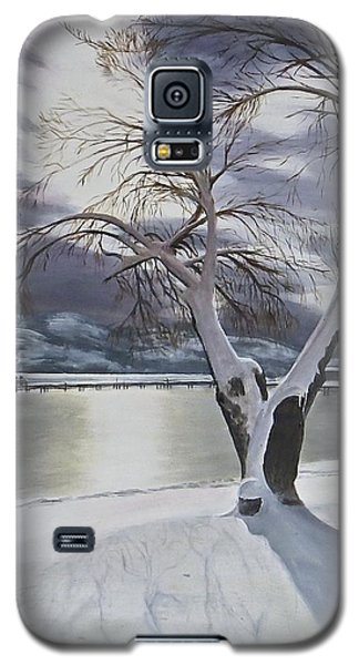 Galaxy S5 Case featuring the painting Winter's Whisper by Bonnie Heather