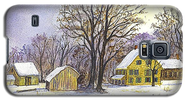 Galaxy S5 Case featuring the painting Wintertime In The Country by Carol Wisniewski
