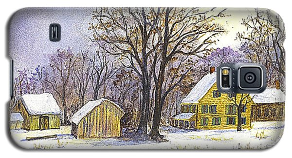 Wintertime In The Country Galaxy S5 Case