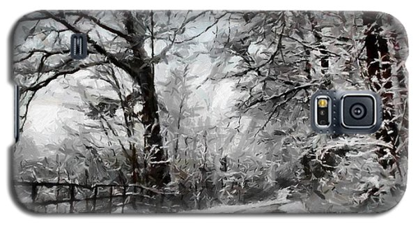 Galaxy S5 Case featuring the digital art Wintery Road by Kai Saarto