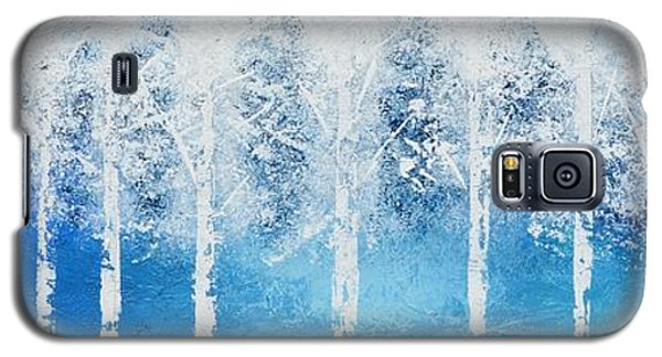 Galaxy S5 Case featuring the painting Wintry Mix by Linda Bailey