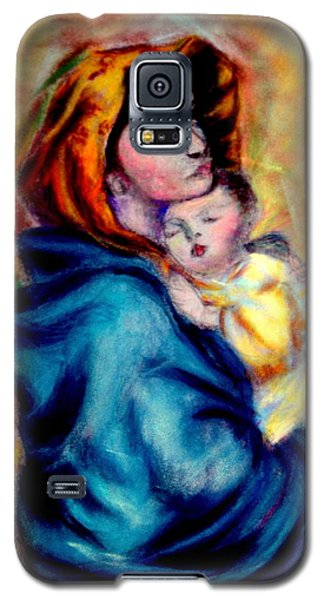 Mondonna Of The Street By Roberto Ferrizzi, Rendition In Pastel Antonia Citrino,  Sold.        Galaxy S5 Case by Antonia Citrino