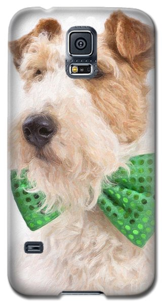 Wire Fox Terrier With Bowtie Galaxy S5 Case by Verena Matthew