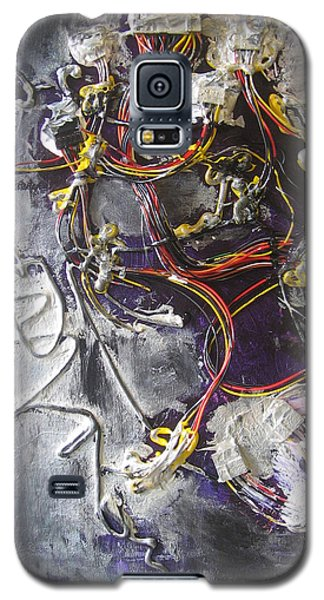 Galaxy S5 Case featuring the painting Wirefly by Lucy Matta