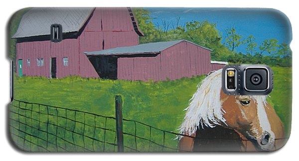 Galaxy S5 Case featuring the painting Wisconsin Barn by Norm Starks