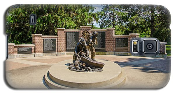 Galaxy S5 Case featuring the photograph Wisconsin State Firefighters Memorial 1 by Susan  McMenamin