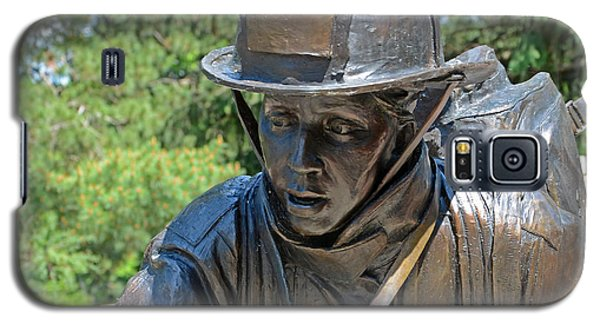 Galaxy S5 Case featuring the photograph Wisconsin State Firefighters Memorial 3  by Susan  McMenamin