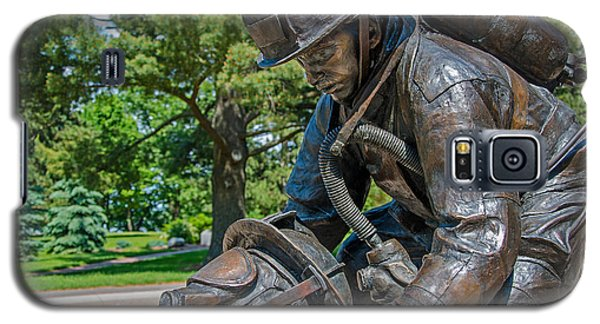 Galaxy S5 Case featuring the photograph Wisconsin State Firefighters Memorial 4 by Susan  McMenamin
