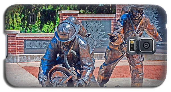 Galaxy S5 Case featuring the photograph Wisconsin State Firefighters Memorial Park 2 by Susan  McMenamin