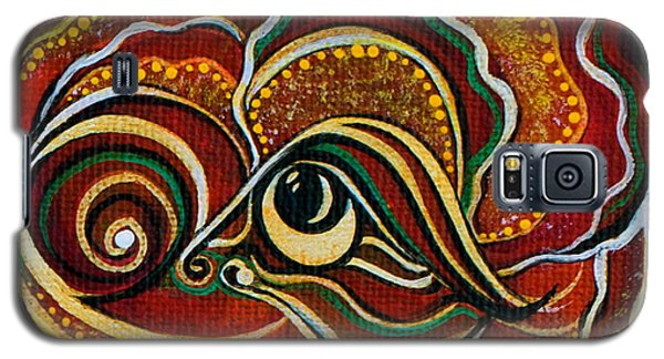 Galaxy S5 Case featuring the painting Wisdom Spirit Eye by Deborha Kerr
