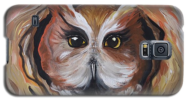 Galaxy S5 Case featuring the painting Wise Ole Owl by Leslie Manley