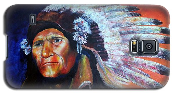 Galaxy S5 Case featuring the painting Wise One by Jennifer Godshalk