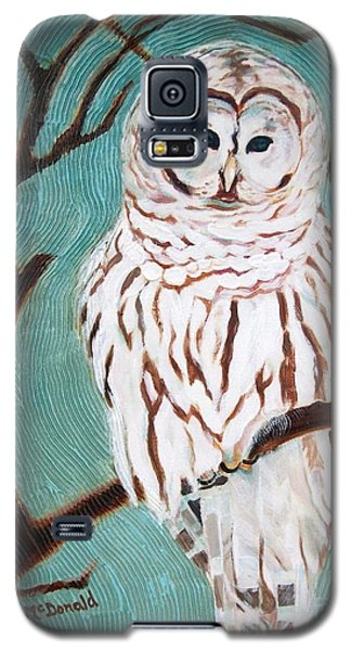 Galaxy S5 Case featuring the painting Wise She Is by Janet McDonald