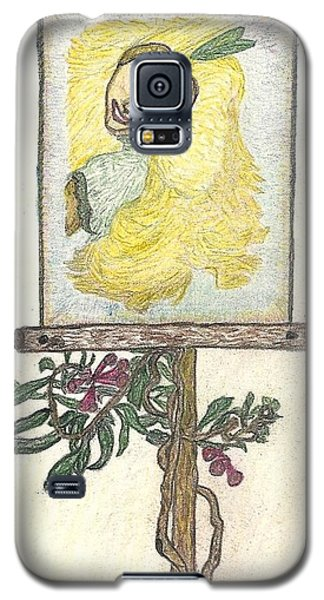 Galaxy S5 Case featuring the drawing Wish And Tell by Kim Pate