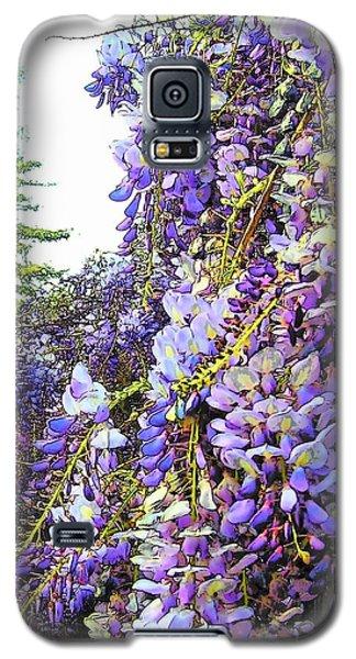 Galaxy S5 Case featuring the photograph Wisteria - Fun Version 2 by Jodie Marie Anne Richardson Traugott          aka jm-ART