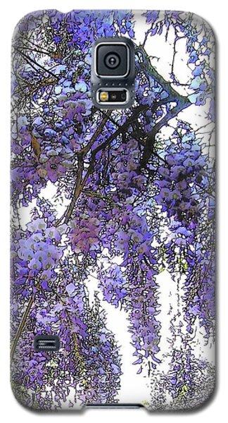 Galaxy S5 Case featuring the photograph Wisteria - Fun Version 3 by Jodie Marie Anne Richardson Traugott          aka jm-ART