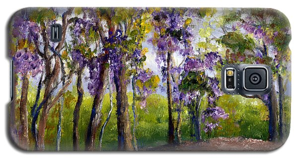 Galaxy S5 Case featuring the painting Wisteria In Louisiana Trees by Lenora  De Lude