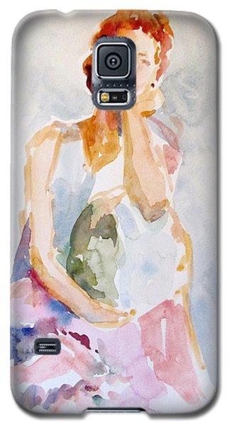 Wistful Redheaded Model Galaxy S5 Case