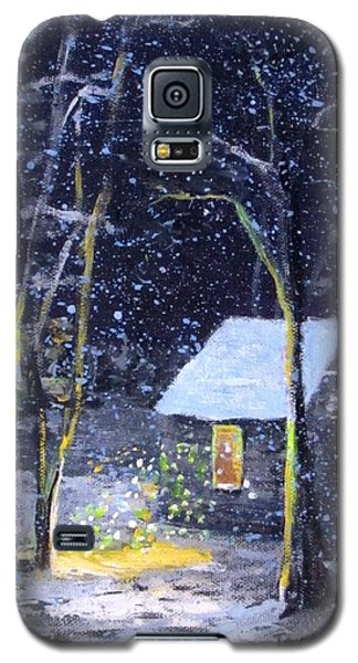 Wintery  Night At Thoreau's Cove Galaxy S5 Case by Jack Skinner