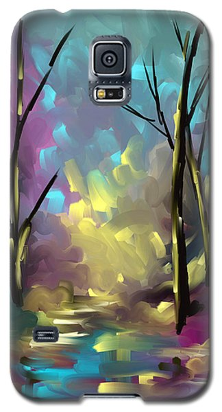 Galaxy S5 Case featuring the painting With A Dream In Mind by Steven Lebron Langston