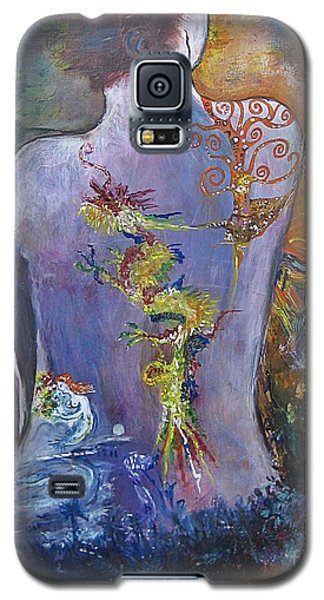 Galaxy S5 Case featuring the painting With A Little Help From My Friends by Diana Bursztein