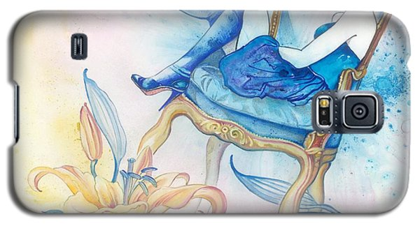 Galaxy S5 Case featuring the painting With Head In The Clouds by Anna Ewa Miarczynska