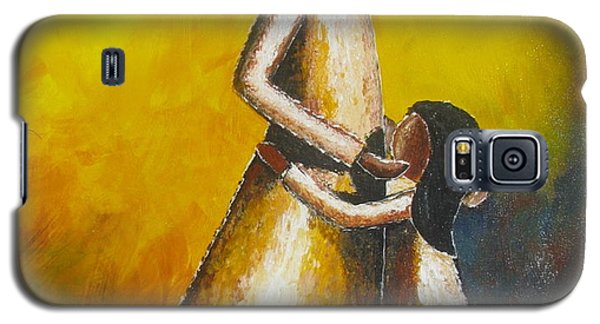 Galaxy S5 Case featuring the painting With Her by Jacqueline Athmann