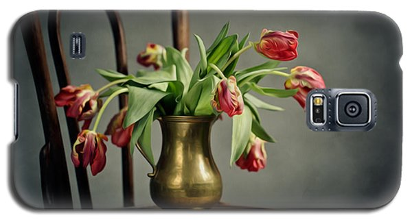 Tulip Galaxy S5 Case - Withered Tulips by Nailia Schwarz