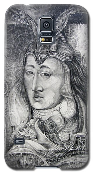 Galaxy S5 Case featuring the drawing Wizard Of Bogomil's Island - The Fomorii Conjurer by Otto Rapp
