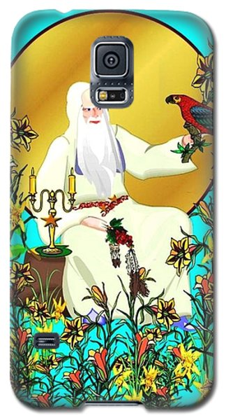 Galaxy S5 Case featuring the digital art Wizard's Garden by Mary Anne Ritchie