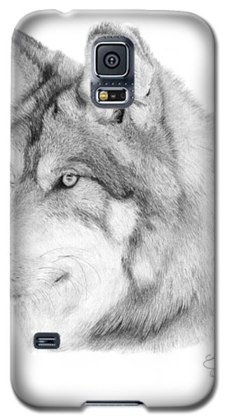 Wolf - 006 Galaxy S5 Case by Abbey Noelle