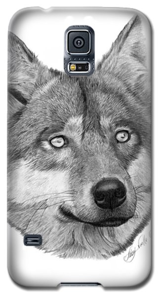 Wolf - 017 Galaxy S5 Case by Abbey Noelle