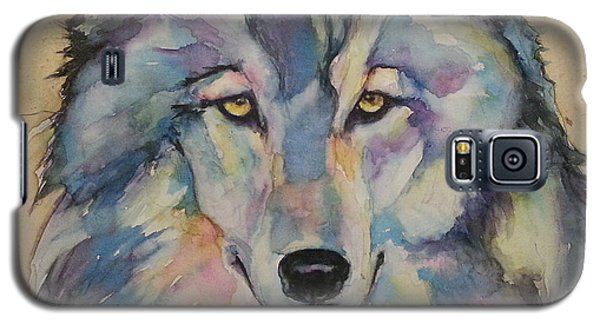 Galaxy S5 Case featuring the painting Wolf by Christy  Freeman