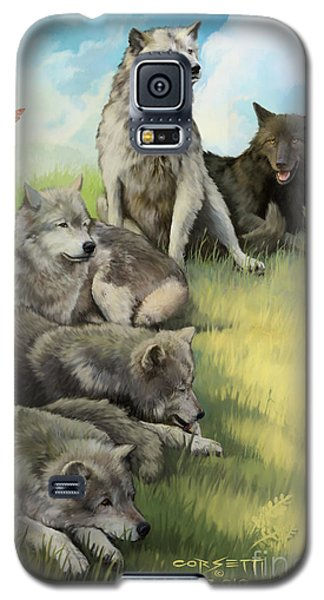 Wolf Gathering Lazy Galaxy S5 Case