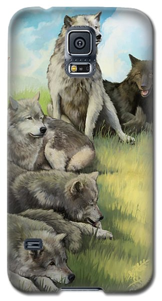 Wolf Gathering Lazy Galaxy S5 Case