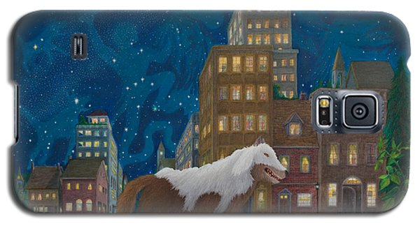 Galaxy S5 Case featuring the painting Wolf In Sheep's Clothing by Matt Konar