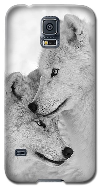 Wolf Love Black And White Galaxy S5 Case