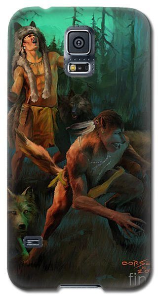 Galaxy S5 Case featuring the painting Wolf Warriors Change by Rob Corsetti