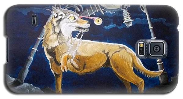 Galaxy S5 Case featuring the painting Wolves Mouth  by Lazaro Hurtado