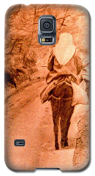 Woman And Donkey-going Home Galaxy S5 Case