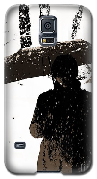 Galaxy S5 Case featuring the digital art Woman And Rain by Yury Bashkin
