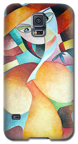 Galaxy S5 Case featuring the painting Woman by Dorothy Maier